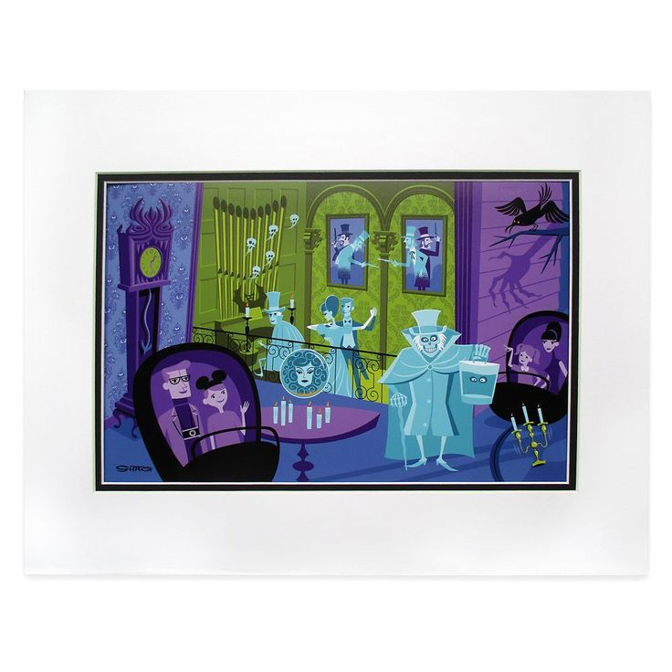The Haunted Mansion ''31 Ghosts'' Deluxe Print by SHAG