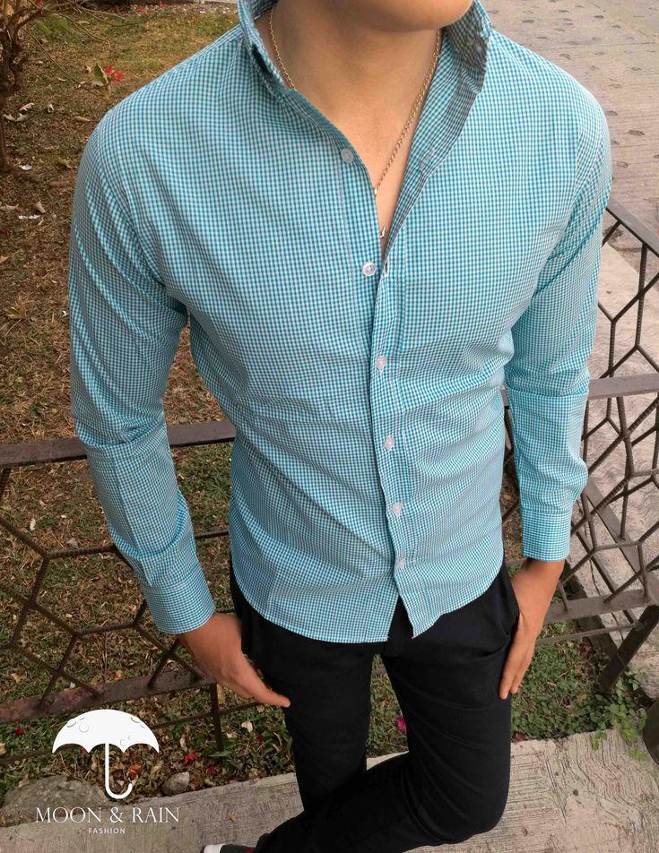 Camisa de Mini Cuadro Verde para hombre de venta en todo el mundo.