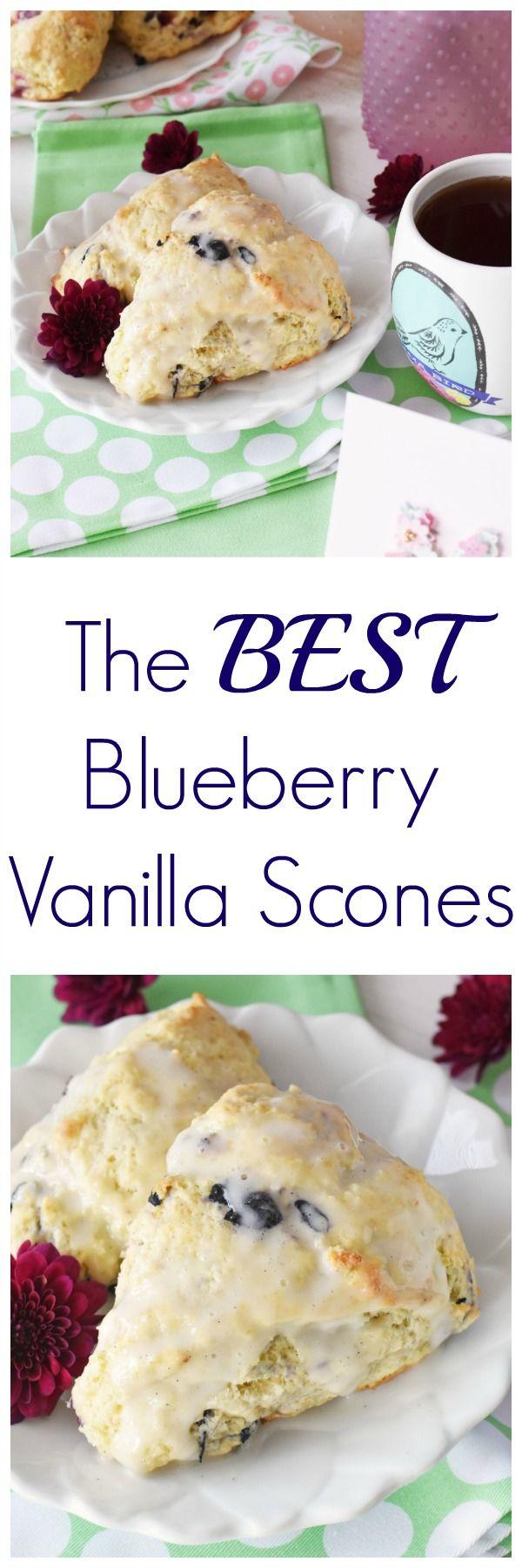 Blueberry vanilla scones