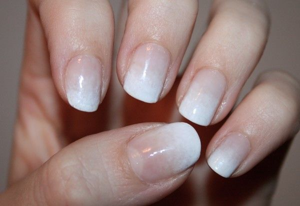 Nude to white gradient
