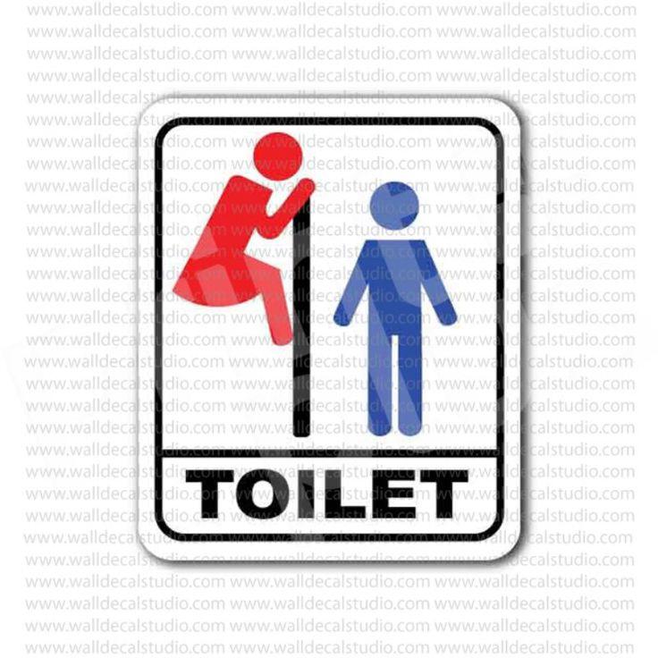 Funny Toilet Peek Sign Sticker: 1000+ Images About Toaleta On Pinterest