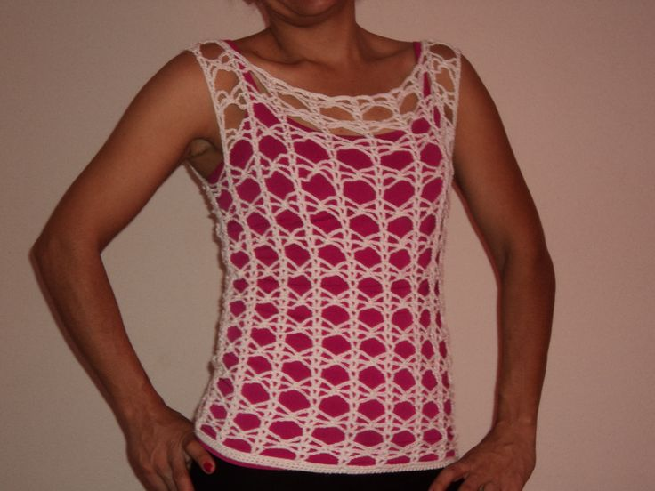 Blusa tejida a crochet | Chalecos | Pinterest | Crochet