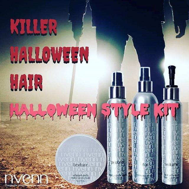SPLIT ENDS are TERRIFYING and chemicals DAMAGE HAIR   craft the sexiety spooky HALLOWEEN hairstyles and fight split ends and color damage with our HALLOWEEN STYLE KIT. https://goo.gl/2UDFYJ   it has everything you need to create the best looks all october long!   #nvenn #halloween #style #kit #halloweenhair #halloweenstylekit #yeghair #yychair #bbloggers #salonpro #spooky #retrofilmart #retrohorror #dappereyevisuals #beautyblogger