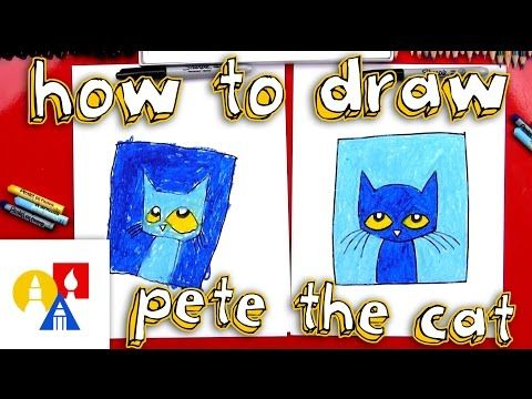 How To Draw Pete The Cat - Art For Kids Hub -