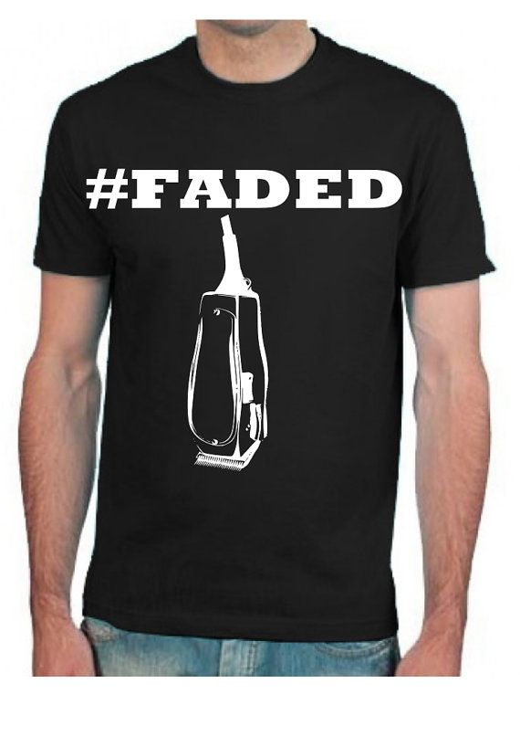 faded beard barbers men t shirt clothes shaving by upinsmokeshop