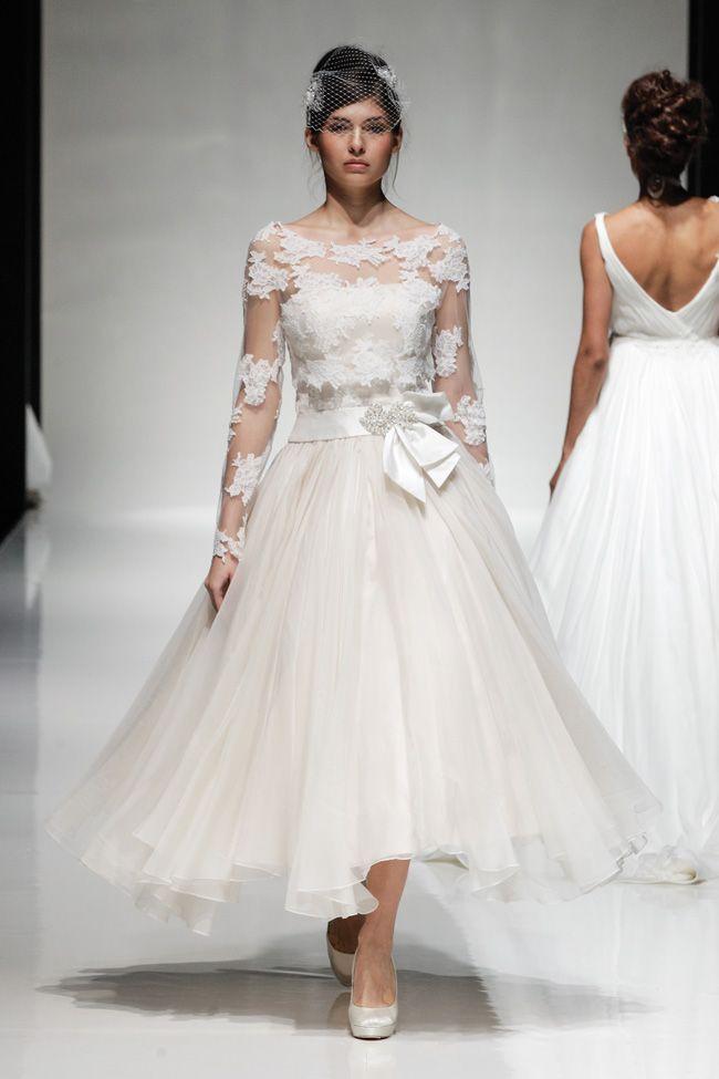 274 best Tea Length & Short Wedding Dresses images by Chic Vintage ...