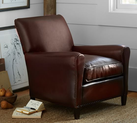Jean Leather Armchair Pottery Barn