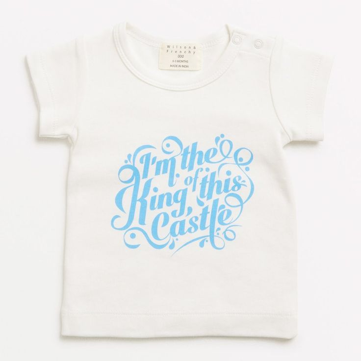 Baby Boy Statement T-Shirt - King Of This Castle - Wilson & Frenchy - Baby Clothes Baby Luno