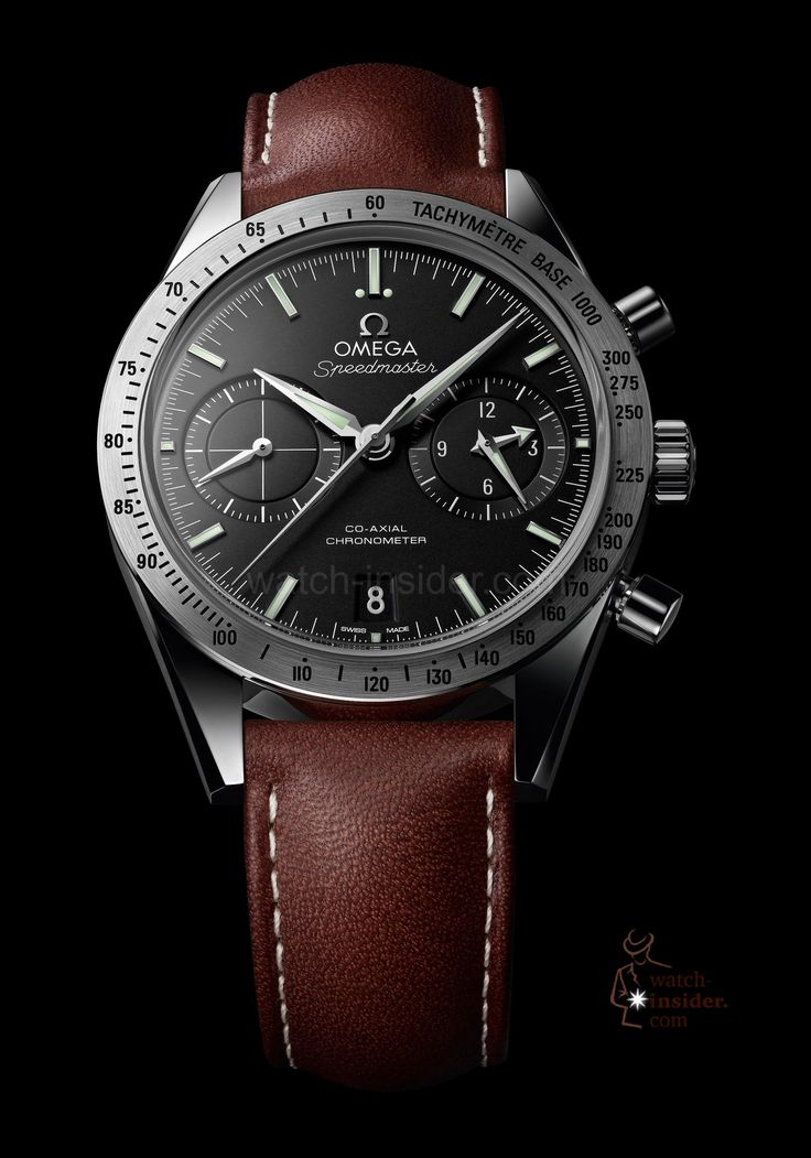Super classy #Omega with brown leather strap The Omega Speedmaster'57 Co-Axial Chronograph
