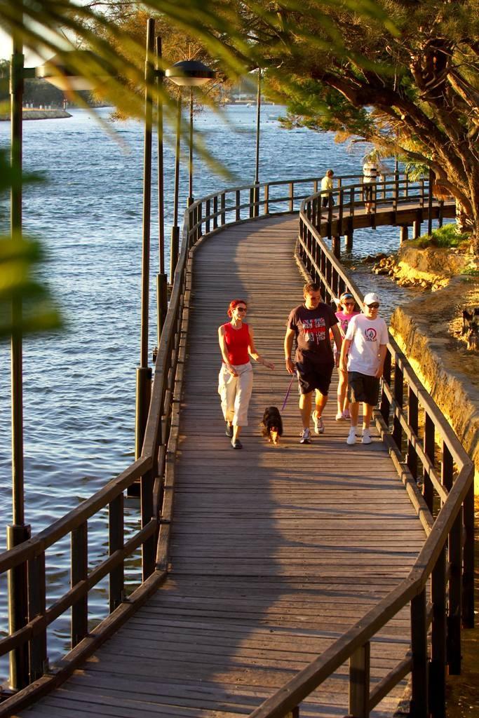 Mandurah Boardwalk, a 45-min drive from #Perth #travel #family