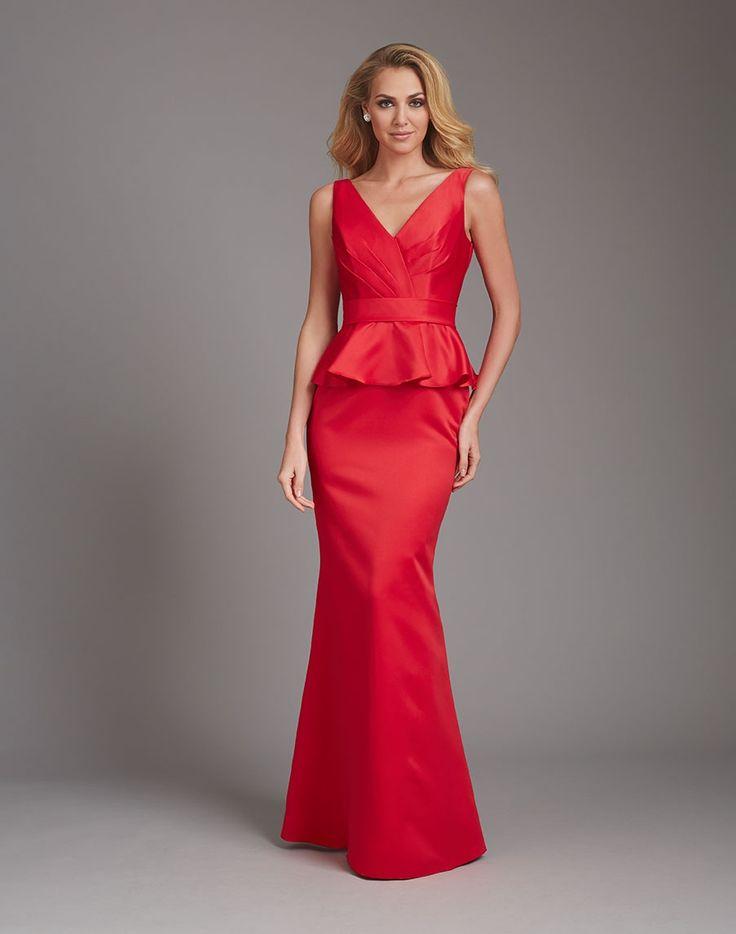 Love this peplum bridesmaid's dress