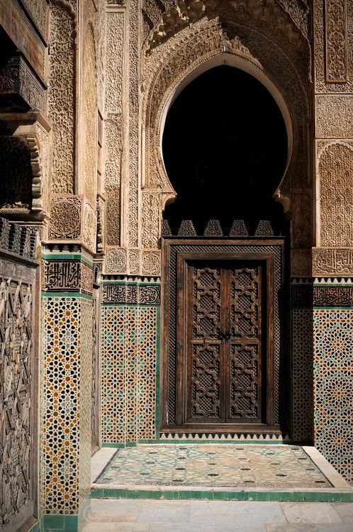 Africa | Morocco, Fez. Medersa Bou Inania - the finest of Fez's theological colleges.