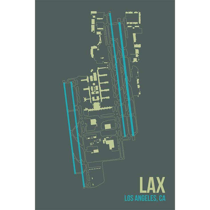 Airports Los Angeles Art Print Architecture Art