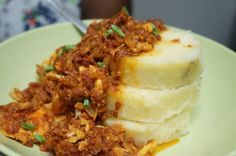 Egg stew Nigerian breakfast yam food african