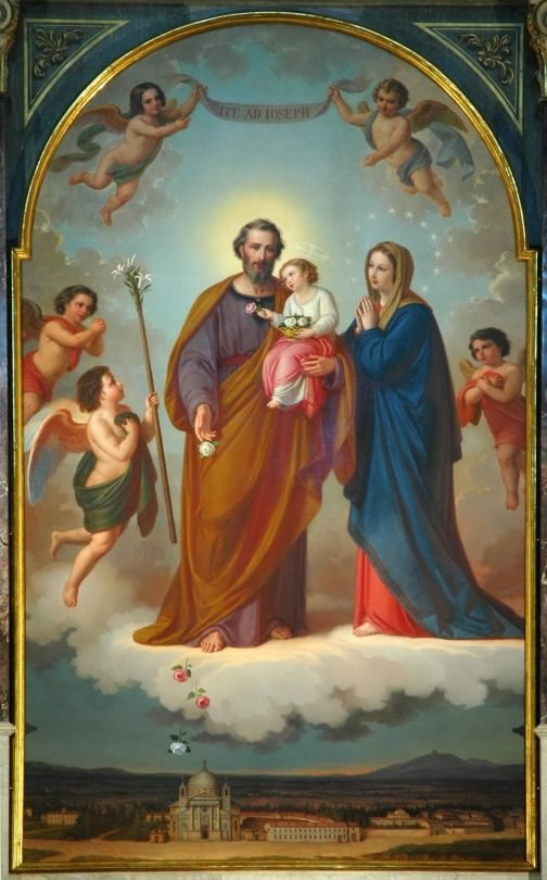 Painting of The Holy Family by Lorenzone according to the instructions of St. John Bosco