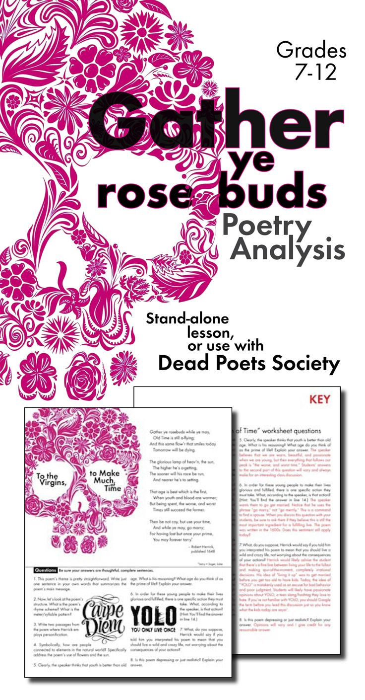 best dead poets society analysis ideas who  poetry analysis worksheet for robert herrick s poem