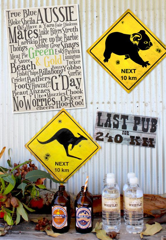 Australia Day Poster Pack INSTANT DOWNLOAD by SassabyParties