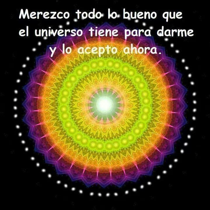 SI, MEREZCO TODO LO BUENO QUE MI PADRE CREO, MEREZCO RECIBIR TODA LA AYUDA DEL UNIVERSO CREADO POR MI PADRE, MEREZCO ATRAER TODA LA ENERGÍA Y PODER PARA CONVERTIRME EN EL MEJOR SER HUMANO, EXITOSA Y ARRODILLADA ANTE MI PADRE, TU HIJA MAPI