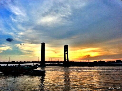 Sunset From Ampera South Of Sumatera