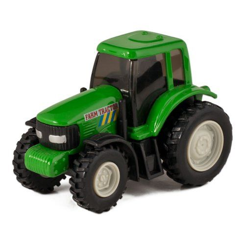 Green Die Cast Metal Farm Tractor Toy with Pull Back Action