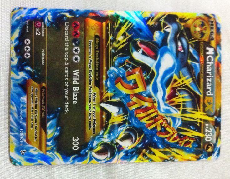 Rare Pokemon EX Cards | ... Charizard EX Flashfire 108/106 – NM Secret Rare Gold Pokemon Card XY