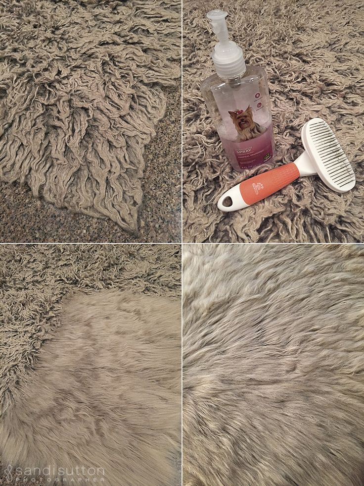 Matted faux fur fix!