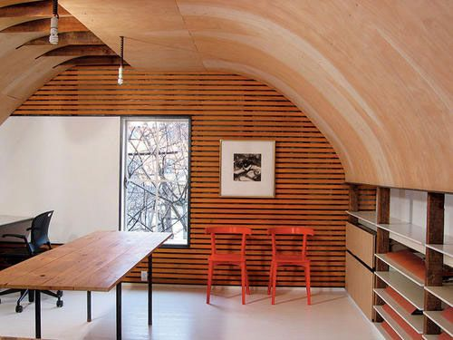 Finished plywood barrel vault? Yes please!