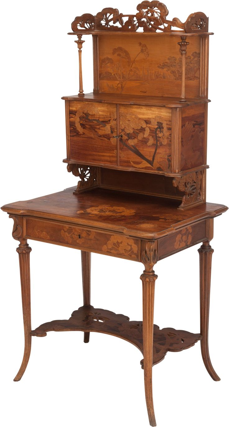 Victorian carved rosewood center table w marble turtle top cottone - Emile Gall 1846 1904 Nancy Mahogany With Fruit Wood Victorian