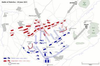 Battle of Waterloo map - Tactique militaire — Wikipédia