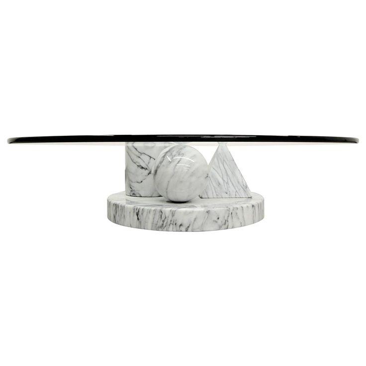Italian Marble Coffee Table by Massimo Vignelli on Chairish.com