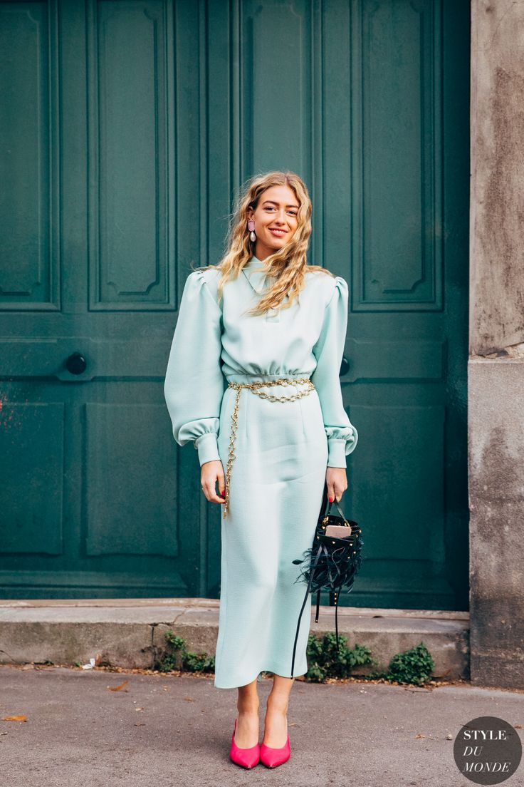 Paris FW 2019 Street Style: Emili Sindlev and Jeanette Friis Madsen