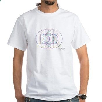 These t-shirts encode cosmic order, Harmonics, the properties of Nature such as light (expression of the double rainbow), Interval ratios in Music, and even more. They are a healing therapy having a positive impact in Consciousness, whether in the conscious, unconscious or subconscious mind, and even physical body. They are promoting Positive Energy for Healing Purposes in the Environment.