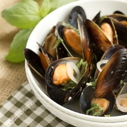 Sake Steamed Mussels by lizzydo