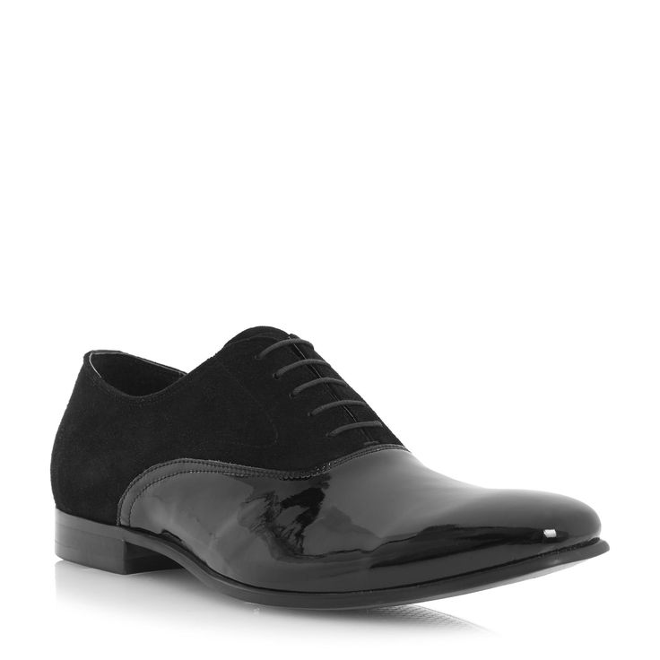 DUNE MENS REFLEX - Suede and Patent Leather Formal Shoe - black | Dune Shoes Online