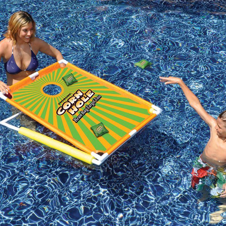 Swimline Cornhole Bean Bag Target Toss Game
