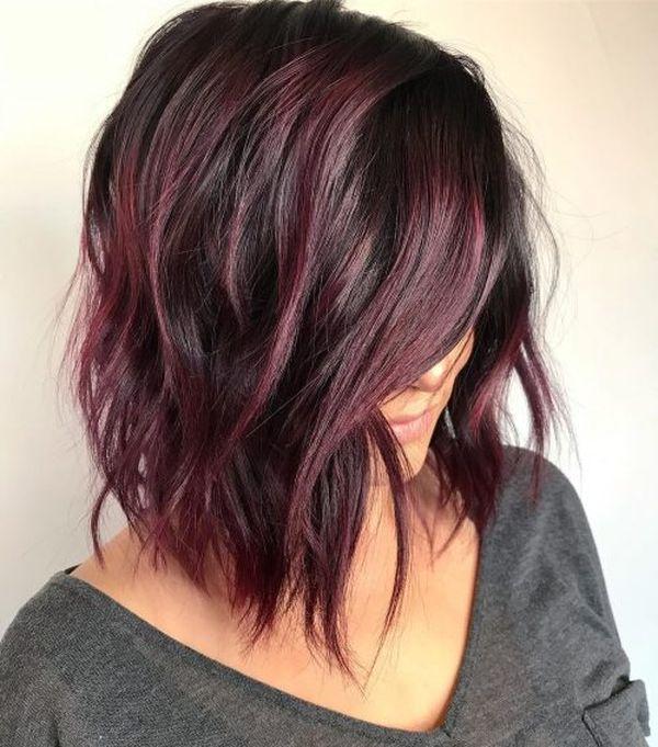 Burgundy Hair Color Best Ideas Of Maroon Hair Trending Maroon Hair Burgundy Deep H In 2020 Maroon Hair Haircut For Thick Hair Curly Hair Styles Naturally