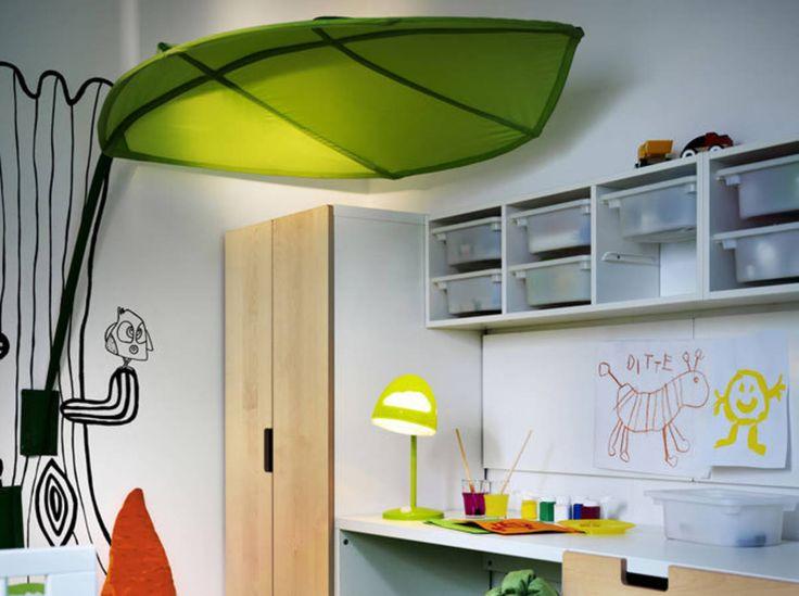 Green lighting, IKEA Stuva. http://www.kenisahome.com/blog