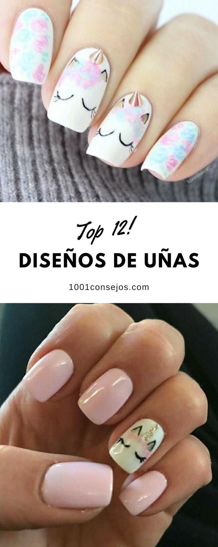 Encuentra inspiración en estos 12 diseños creativos de uñas. | uñas decoradas juveniles | uñas decoradas de moda | diseños de uñas fáciles paso a paso. | #naildesigns #nailart