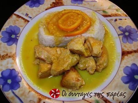 Κοτόπουλο με πορτοκάλι #sintagespareas