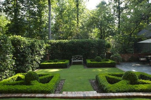 """""""Classic Formal"""" landscape concept design inspiration: Houzz: Planting Bed Design, Pictures, Remodel, Decor and Ideas"""