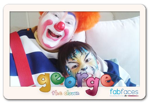 With my son facepainted as a tiger. Facepainting by fabfaces.co.nz What a fantastic job she did.