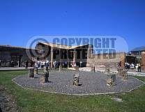 Italy,pompeii city bay of naples