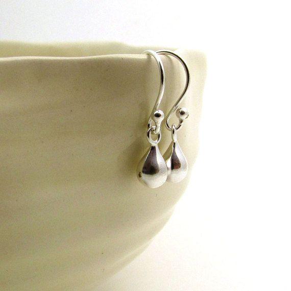 Sterling silver drop earrings minimalist jewelry by FelisaJewelry