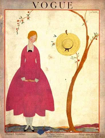 George Lepape, Vogue magazine cover, May 1917