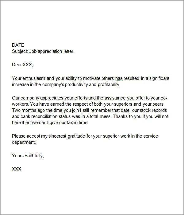 thanks letter for job offer