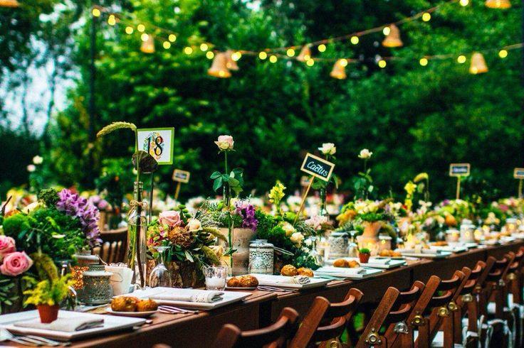 Table decor wedding outdoor countryside