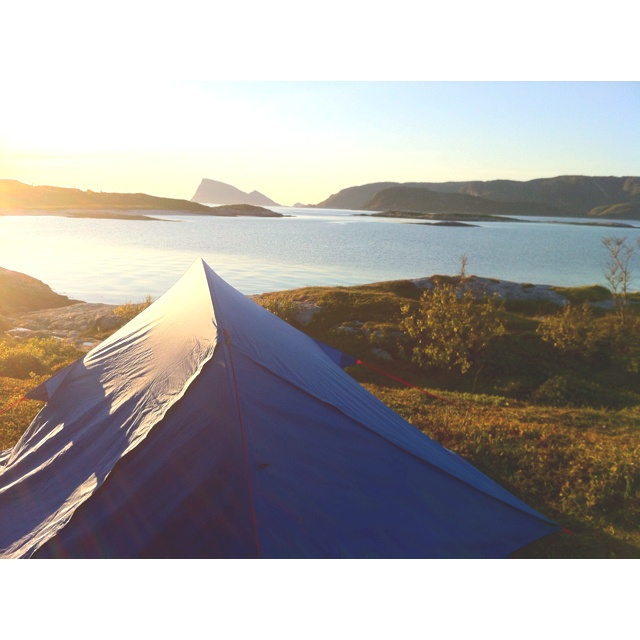 Camping at Sommarøya in Norway. It is almost midnight. It is magic