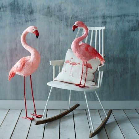 Plush Pink Feathered Flamingos - Quirky Bits - Home Decoration - Home Accessories