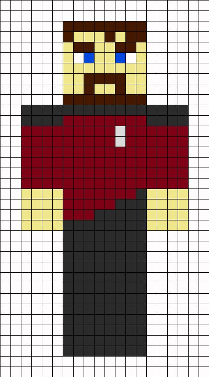 Minecraft Xephos Skin Perler Bead Pattern Minecraft For