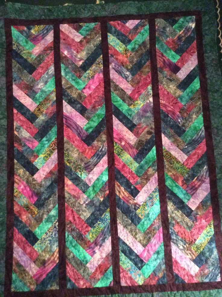 Just Finished This Batik French Braid Quilt Quilt